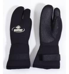 gants 3 doigts 7 mm - Manchette velcro - Noir