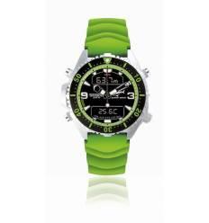 Montre Depthmeter modèle digital vert Caiman