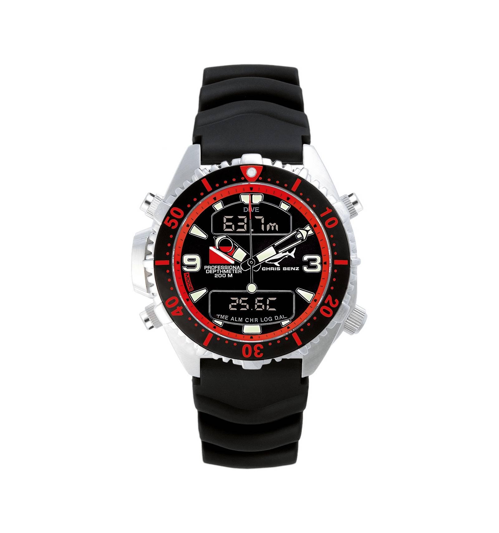 Montre depthmeter mod le digital rouge poisson de feu chris benz plong e montres plong e - Modele poisson ...