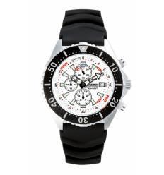 Montre Chris Benz Depthmeter Chronograph 300m Blanc Arctique