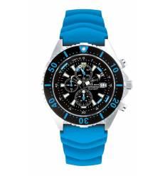 Montre Chris Benz Depthmeter Chronograph 300m Bleu Caraibes