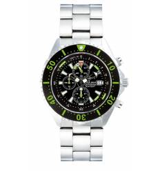 Montre Chris Benz Depthmeter Chronograph 300m Vert Caiman