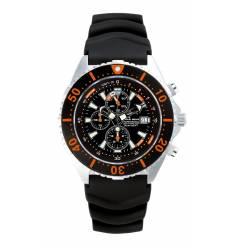 Montre Chris Benz Depthmeter Chronograph 300m Orange Corail